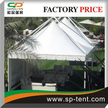 5x5m Windproof External suspending gazebo tent with the frame built on the outside