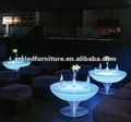 bent glass coffee table/Led bar furniture