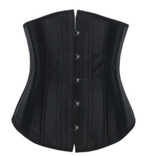 Walson corset with 24 steel bone leather corset with straps 24 steel boned corset