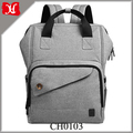 Newly Wide Open Design Fashion Baby Diaper Bag Large Capacity Mom & Dad Tote Bag Many Pockets Backpack Multi-function