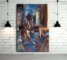 2015new llegada hot sexy girl abstract woman nude oil painting for living room