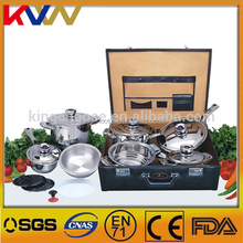 China manucaturer 18 10 16pcs stainless steel cookware set