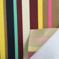 300D colourful stripes pvc sythetic leather fabric