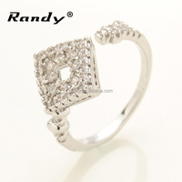 Manufacturers Design Rhombus Cheap Championship Engagement Diamond Rings Lady Men Diamond Ring