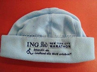custom adults polar fleece hat embroidery