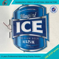 LEd advertising edgelit slim led crystal light box