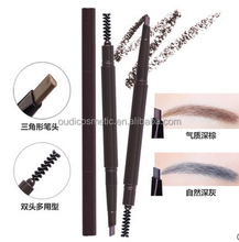 private label permanent eyebrow pencil plastic material eyebrow makeup with brush