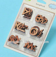 wooden antique decorative alphabet letters