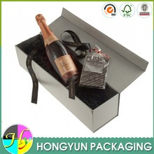 custom luxury cardboard champagne bottle gift box