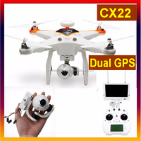 Cheerson CX-22 RC Quadcopter,Follower 1080P Camera 5.8 Ghz Dual GPS FPV ,CX-22 Camera Drone with follow me functionality VS Dji