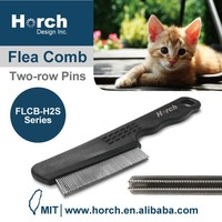 Vet recommended dog two raw pins stainless steel pins tick comb