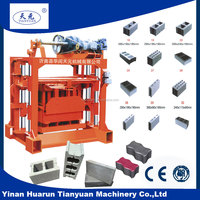 QTJ4-40 electric brick making machine and hollow concrete blocks making business plan