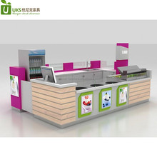 Popular hot sale fried ice cream food kiosk used for shopping mall with display counter to UK