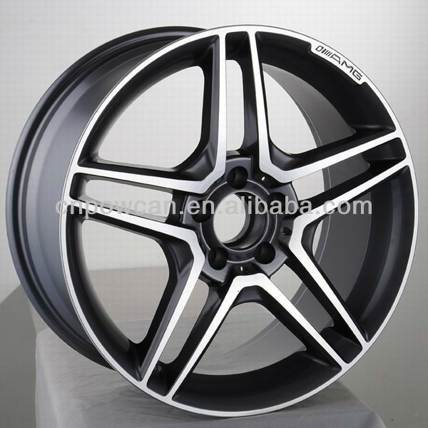 Size 15 16 17 18 inch 5 Holes PCD 5x112 Polish Machined 5 spoke Car wheel rims