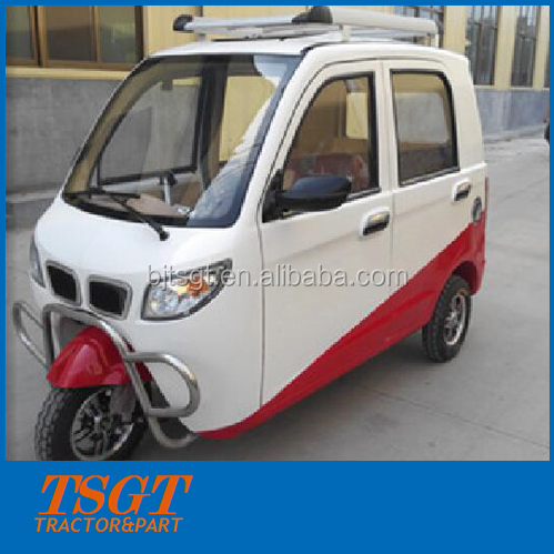 like city car closed cabin tri-motorcycle with 175cc engine and auto gearbox
