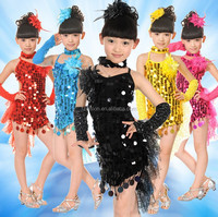 Children Ballet Samba Salsa Stage Ballroom Dancing Clothing Costumes Kids Latin Dance Dress for Girls