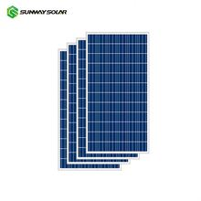 Sunway 270w 260w polycrystalline solar cell pv board for solar power system
