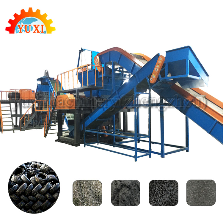 Waste Tyre Recycling Plant / Rubber Granules Making Machine Production Line