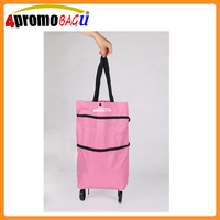 New Design Fashion Portable Shopping Bag with wheels