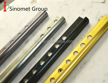 Aluminium anodized round edge ceramic tile trim