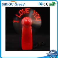 Mini usb fan with customized led message self programmable led message usb fan
