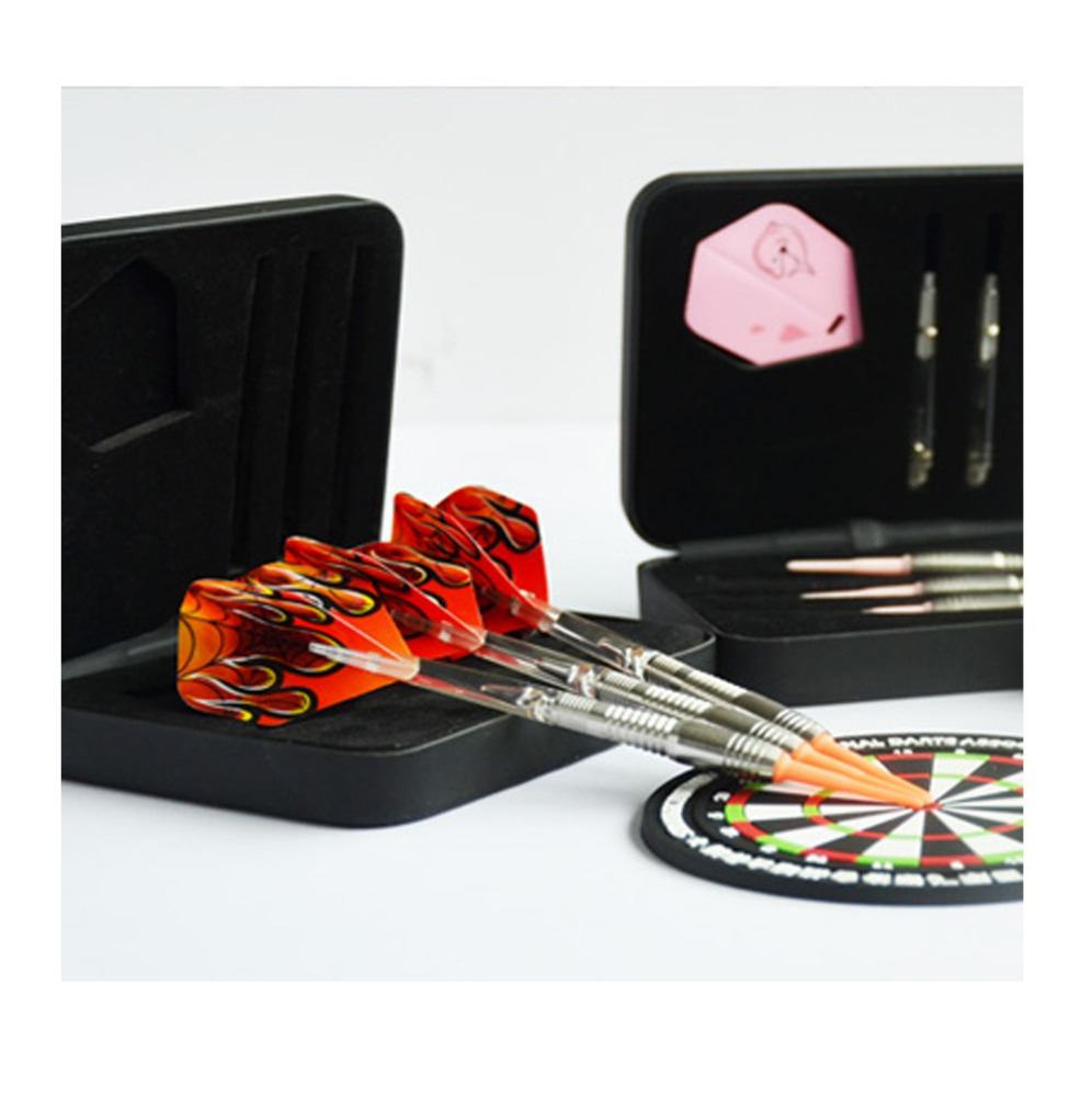 Quality tungsten soft tip darts complete darts set with dart case for professionals