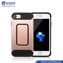 UK best selling products custom 2in1 TPU+PC case with finger ring for iphone8/Carcasa Para Celular