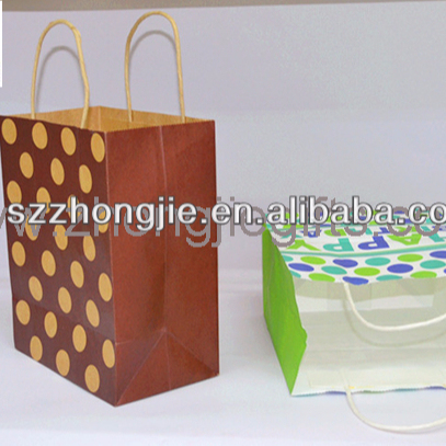 Quality ensure new design shopping paper bags with handles for any items packaging
