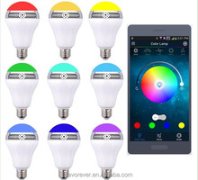 Colorful music speaker multi color flashing light bulbs in 2017
