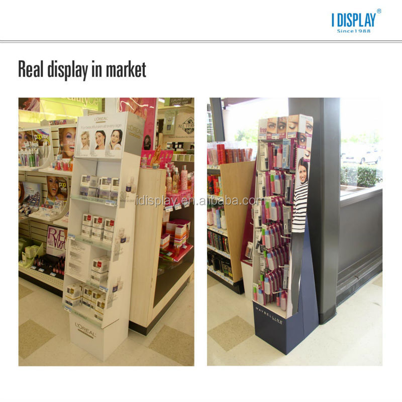 floor cardboard pop display with lcd video player integrated