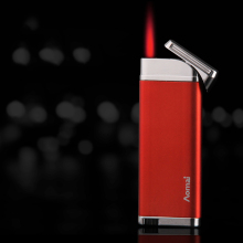 Aomai Creative Windproof Metal <strong>Flat</strong> Red Flame Lighter AM298