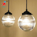 clear striated glass globe/ round glass ball pendant light shade
