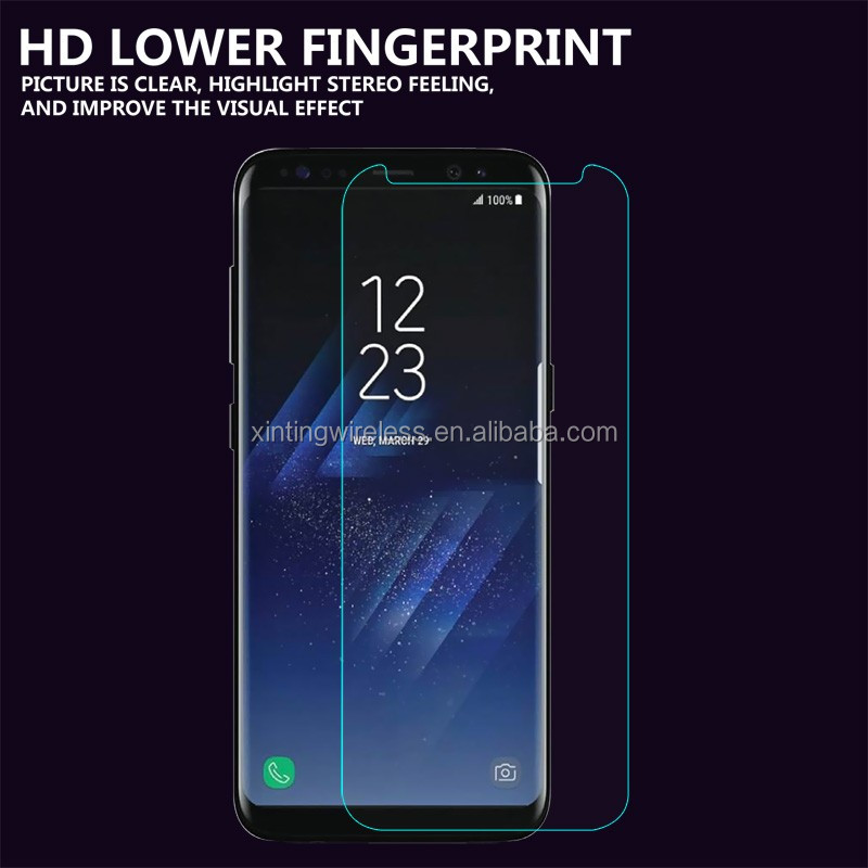 NEW Clear Temptered glass for SamSung S8/S8plus cell phone Tempered Glass Protective film Protective eye screen guard