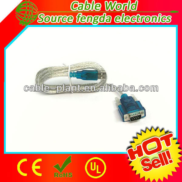 RS 232 to USB cable DB9 to USB data cable male to male