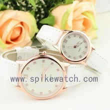 Promotional Pair PU Leather Band Cheap Couple Watches Gift Set