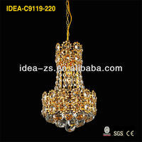 Golden crystal chandelier crystal lamp chimney