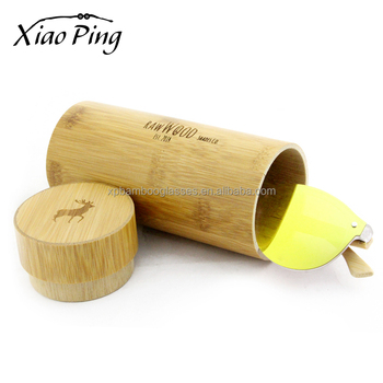 custom round bamboo sunglasses cases