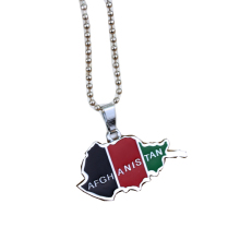 Zooying wholesale jewelry supplies china cheaper hip hop afghanistan map pendant necklace for man