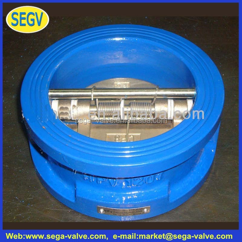 factory supply Cast Steel Wafer Type Dual Plate Check Valve