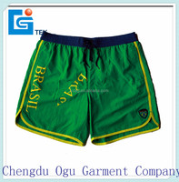 stylish quality 100% polyester wholesale blank men sweat swim trunks