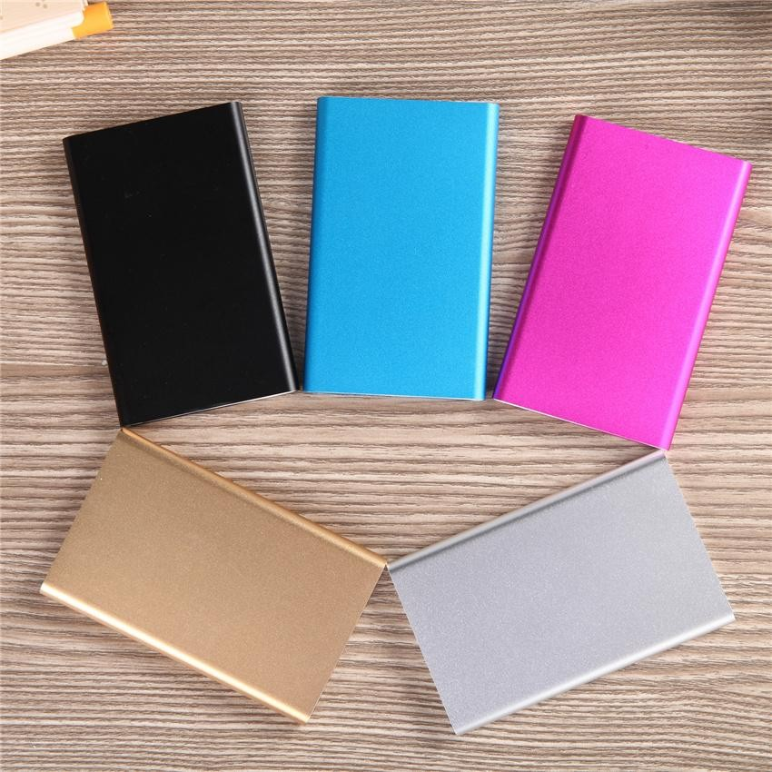 Ultra Slim Power Bank External Battery Pack Charger Powerbank 5000mah