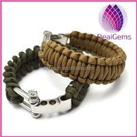supply outdoor survival alloy buckle 7 strands 550 paracord bracelet