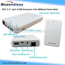 "Mobile phone standby charger 2.5""USB 3.0 WIFI Hard Disk Case"
