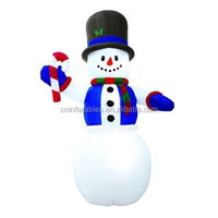 Giant 12' Tall Lighted Snowman Airblown Inflatable Christmas Yard Decoration