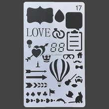 New style customzied Bullet Journal Stencil Plastic Planner Stencils Journal DIY Drawing Template Stencil 4x7 Inch
