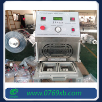 Round and square plastic food containers sealing machine