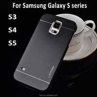 Brushed Aluminum motomo case for samsung galaxy s5 i9600 S4 i9500 S3 Covers