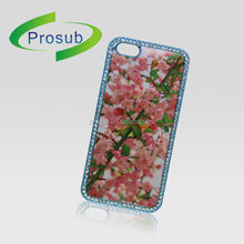 Sublimation heat transfer plastic material rhinestone bling cell phone case skin cover