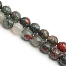 Wholesale New Arrival Africa - blood stone Natural Stone Beads facceted africa blood stone