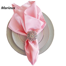 Marious Plain Dyed Manufacturer Wedding Satin Band Table Napkins Folding Design for wedding banquet cheap